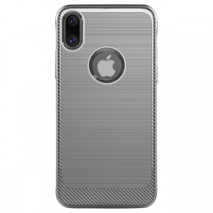 Cubix [Onyx] [Resilient Strength] Flexible Durability Durable Anti-Slip TPU Defensive Case for Apple iPhone X - Grey