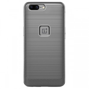 Cubix [Onyx] [Resilient Strength] Flexible Durability Durable Anti-Slip TPU Defensive Case for ONEPLUS 5, One Plus 5 - Grey