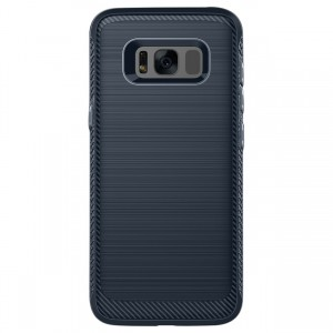 Cubix [Onyx] [Resilient Strength] Flexible Durability Durable Anti-Slip TPU Defensive Case for Samsung Galaxy S8+, Galaxy S8 Plus (Blue)