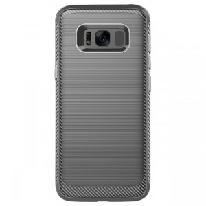 Cubix [Onyx] [Resilient Strength] Flexible Durability Durable Anti-Slip TPU Defensive Case for Samsung Galaxy S8+, Galaxy S8 Plus (Grey)