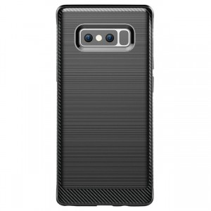 Cubix [Onyx] [Resilient Strength] Flexible Durability, Durable Anti-Slip, TPU Defensive Case for Samsung Galaxy Note 8 - Black